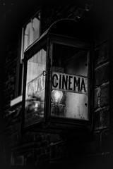 Cinema (Nathan Reading) Tags: blackandwhite cinema lamp sign dudley blackcountry 50d blackcountrylivingmuseum niksoftware limelightcinema silverefexpro2