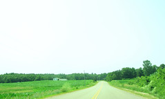 Hello Wisconsin! (ohpapercut) Tags: road sky house green field wisconsin drive midwest afternoon country    ohpapercut