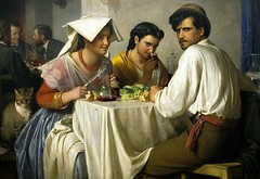 Bloch, Carl (1834-1890) - In a Roman Osteria (RasMarley) Tags: rome animal cat table interior group 19thcentury danish painter romantic leisure groupportrait genre realistic bloch carlbloch inaromanosteria