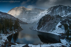 Lake Ellery (Tioga Pass) after a snow storm! (Sathish-Veer) Tags: sathish blinkagain