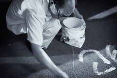 "writing in the steet (bryan-roos) Tags: china leica portrait flickr shanghai sony protest relocation 中国 上海 protesting elmarit xiaonanmen ""shanghai photographystreet elmarit24mmf28 shanghaiflickrmeetup bw上海 homerelocation 上海flickr聚会 小南门 nex7 sonynex7 meetupsony nex7night photographynex7"