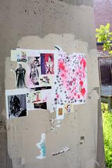 C09 (damonabnormal) Tags: street city urban streetart pasteup pastedpaper art philadelphia collage fuji wheatpaste streetphotography july urbanart pa pasted philly fujichrome phl 2012 urbanite x100 fujix100