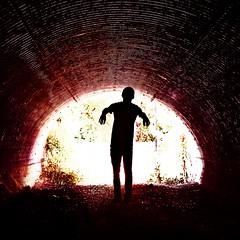 Photo Jul 13, 5 06 20 PM (Jordan Kuder) Tags: light red silhouette zombie tunnel
