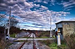 Level crossing (Photos On The Road) Tags: abbandonata avellinorocchetta bianco binari binario campagna campania decaying europa ferrovia irpinia italia meridionale orizzontale paesaggio passaggioalivello perspedctive prospettiva railway rotaia
