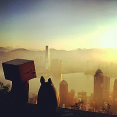 Sunrise in the Peak.... (caryyuen88) Tags: hk sunrise doll peak totoro figure dando  japantoy