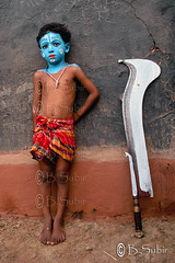 A boy with a Sword  II...DSC_5838 (subirbasak) Tags: blue people india colour childhood standing facepainting vishnu child indian makeup celebration innocence sword males facepaint relaxation krishna hinduism leaning frontview festivalofindia realpeople traditionalfestival indianculture indianpeople childrenonly gajan fancydresscostume charak indiaphoto indianethnicity subirbasak traditionallyindian indianfair gajanfair gajanfestival gettyimagesindiaq4 traditionalindianritual