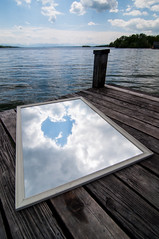 Heart Of The Sky (Lens felicis) Tags: lake germany munich münchen bayern deutschland bavaria mirror see nikon wasser heart spiegel jetty herz starnbergersee 2012 steg d90 lakestarnberg fünfseenland nikond90