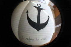 anchor (letssmoreira) Tags: moleskine sink quote fisheye anchor refuse