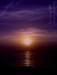 Sunset (Nourah Almajaishy) Tags: sunset sea sun beach the    nourah    almajaishy