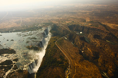 Bird's Eye (aaafotos) Tags: sky eye water birds waterfall view victoria falls helicopter biggest widest