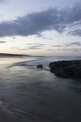 16-8-2012 (Copperhobnob) Tags: sea summer sky beach clouds evening sand waves aberdeenshire stcombs