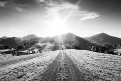 Way of Sun (Andreas Voegele) Tags: bw sun canon way landscape switzerland powershot 32 s100 canons100 canonpowershots100 andreasvoegelephoto wayofsun
