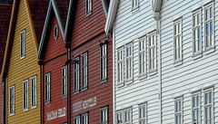 Colourful Norway - Hanseatic heritage (+PeterCH51+) Tags: houses red white house yellow norway wooden historic unesco colourful bergen scandinavia unescoworldheritage bryggen hanseatic hanseaticleague mywinners peterch51