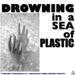 poly_01 (fillzees) Tags: bw mannequin typography words published hand text literary environmental plastic research chemistry peanut noodle title poly author drowning chemical prose polymer
