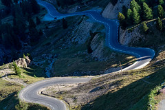 Winding road (Michel Couprie) Tags: road light france alps turn alpes sunrise canon eos route 7d winding oblique brianon col izoard virage briancon hautesalpes lacets