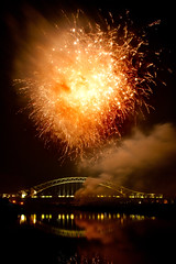 Fireworks over Runcorn (juliereynoldsphotography) Tags: river fireworks runcornbridge juliereynolds
