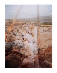 Ghost Logs (Dead  Air) Tags: ocean sea summer beach holga logs driftwood pacificocean oregoncoast 2012 lincolncity exposures spanishhead