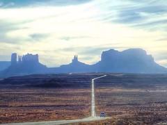 Mile Marker 13. MV Utah (realitygui) Tags: sky usa clouds landscape utah monumentvalley mittens mv buttes forrestgump us163 milemarker13