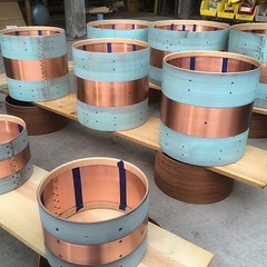 Copper, copper and more copper... Time to hit the recycling center! #qdrumco #copper #drums