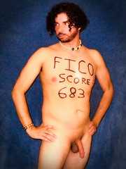 fico20 (jonathan.carroll484) Tags: man nude penis message good perspective bad system hippie capitalism financial banks scoring debt fico experian creditkarma