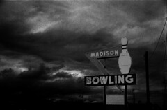 Bowling up a storm (gaypunk) Tags: sky storm sign clouds alley shoes nashville wind tennessee madison bowling lanes