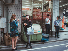 (Bart) Tags: street cute japan lost photography thought candid strangers streetphotography stranger bleu micro charming 18 rue lostinthought 43 25mm photoderue m43 mft ep5 micro43 microfourthirds microfourthird 43 mzuiko olympusep5 mzuiko2518 mzuiko25mm18