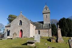 Cawdor Parish Church, Cawdor, Scotland (David May) Tags: tower church grave stone yard that scotland place head mark religion trafalgar neil nelson battle smith steeple take resting owen naval moray inverness surgeon