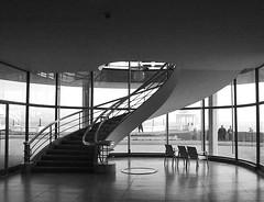 Stairwell (marktmcn) Tags: uk england blackandwhite building art public monochrome architecture stairs de spiral sussex coast la 1930s south centre modernism style erich stairwell east galleries international staircase pavilion architects deco modernist serge chermayeff banisters bexhillonsea warr mendlesohn
