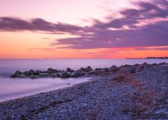 smooth water (johanbe) Tags: ocean longexposure light sunset sea sky cloud color beach strand denmark evening pier moving nikon long exposure smooth nikkor frg hav solnedgng stenar ndfilter rrelse gedser kvll johanbengtsson nd110 pebblesbeach lngexponering stenpir d7200