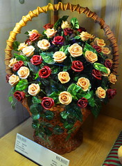A Special Rose Basket [Szentendre - 6 December 2015] (Doc. Ing.) Tags: flowers roses flower hungary marzipan bouquet hu flowerbasket szentendre 2015 marzipanmuseum rosebasket centralhungary