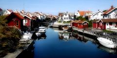 Grundsund at the Westcoast of Sweden (JRJ.) Tags: sea summer seascape landscape village sweden outdoor fjord bathing westcoast