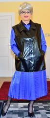 Ingrid022013 (ibach411) Tags: leather dress skirt mature faux waistcoat pleated kleid weste kunstleder faltenrock