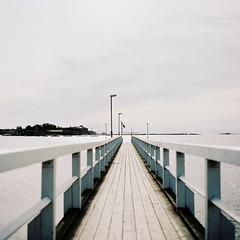 Srknlinna pier (soreikea) Tags: sea film analog finland pier helsinki kodak s2 2015 portra160 zenzabronica