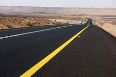Alone on the road, the Negev desert (YamTikhoni) Tags: road israel desert perspective negev