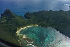 Farewell Lord Howe: North Bay (NettyA) Tags: ocean sea beach water australia aerial nsw day9 unescoworldheritage mteliza northbay lordhoweisland viewfromplane 2016 lhi oldgulch lordhoweforclimate