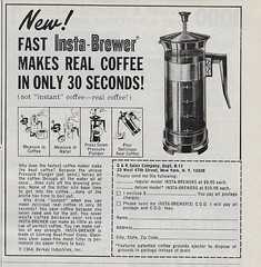 French press (Cornbread, beans, & coffee) Tags: november redbook 1964 vintageads