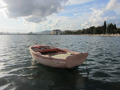 Lonely boat (kostakai) Tags: sea seascape boat greece volos
