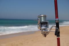 Gone Fishing (H. Eisenreich) Tags: eisenreich hans fujifilm xt1 meer zahara fischen beach angeln fishing playa costadelaluz strand sea angelrute schrfeverlauf fishingrod caadespesca bokeh angelrolle antlanticocean antlantico atlantik petriheil