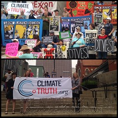 ClimateTruth.org in Dallas for the ExxonMobil AGM (ClimateTruth) Tags: people climatechange exxon exxonmobil actonclimate exxonknew