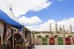 Zaragoza Medieval (kinojam) Tags: color pilar canon kino medieval zaragoza mercadomedieval torres puentedepiedra basilicadelpilar canon6d kinojam