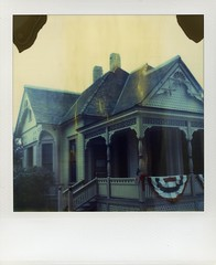 heritage house (broaddaylight) Tags: polaroid sx70 instant fullerton timezero expiredfilm fullertonarboretum heritagehouse expired06 timezeroflames dreaminginfilm yearofzero