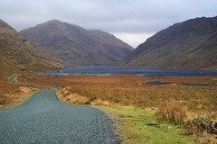 23/52 Doolough Co Mayo (Leo Bissett) Tags: road mountains water grass river lough heather valley remote mayo fjord famine