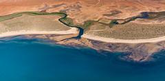 Y || Exmouth Gulf aerial (David Marriott - Sydney) Tags: beach creek river gulf desert au australia aerial estuary wa westernaustralia cessna exmouth learmonth