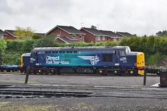 37716 at Kidderminster. 21/5/16 (Nick Wilcock) Tags: railways svr 377 severnvalleyrailway kidderminster drs class37 37716 dieselgala directrailservices