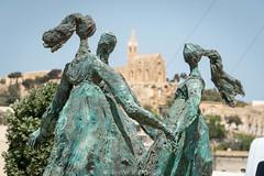 Gozo - Mgarr (pego28) Tags: 2016 gozo malta place urlaub holiday insel island nikon nikkor d800 mediterranean malta2016 travelphoto reisen maltaphotography mittelmeer vacation lovemalta maltalovers kirche curch katholisch catholic hafen harbor mgarr skulptur sculpture art kunstwerk artwork lourdes chapel