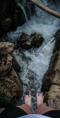 Untitled (mariazaharievaPH) Tags: bridge feet nature river rocks outdoor bulgaria