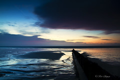 Blue and pink (Through Bri`s Lens) Tags: sunrise sand lowtide groyne wetsand sigma177028 canon7d