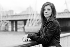 (Marc Gascoigne) Tags: bridge portrait blackandwhite woman london westminster female model southbank hungerfordbridge outdoorportrait canon7d ringexcellence dblringexcellence tplringexcellence