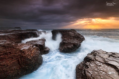 Intensity (SoniaMphotography) Tags: ocean sea seascape water sunrise canon rocks australia cascades nsw 7d rough sunrays kiama raging rockshelf