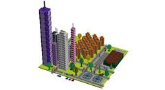 Future City (RS 1990) Tags: city lego future futuristic spaceage moc ldd 2088 digitaldesigner